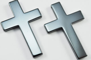 Non-Magnetic Hematite Large Plain Cross (HPC-2)