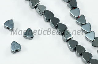 Non Magnetic Hematite 4 mm Flat Heart (H-04)