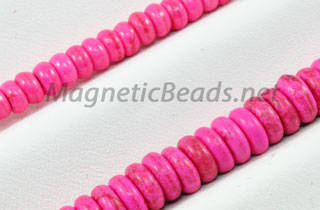 Semi-Precious Bead Pink Turquoise Roundell (PI-Roundell)