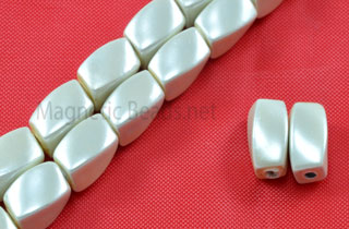 Triple Power Magnetic Bead 5x8 Twist Pearl Creamy Wh (PMPW-600C)