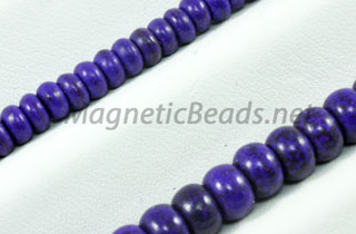 Semi-Precious Bead Purple Turquoise Roundell (PUR-Roundell)