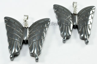 Non Magnetic Hematite Butterfly Pendant (HBP)