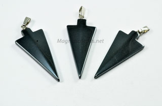 Non Magnetic Hematite Arrowhead Pendant with bale HAH
