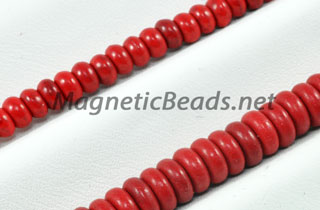 Semi-Precious Beads Red Turquoise Roundell (RED-Roundell)