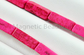 Semi-Precious Bead Rectangle 4x13m Pink Turquoise (RCT-PI)
