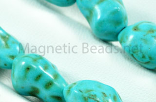 Semi-Precious Beads 8x12mm Blue Turquoise Nugget (N-8)