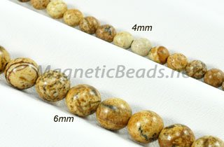 Semi-Precious Beads Picture Jasper 4mm or 6 mm Round (PJ)