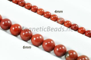 Semi-Precious Beads Red Jasper Round 4mm or 6mm (RJ)