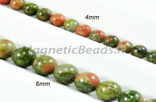 Semi-Precious Beads Unakite Round 4mm and 6mm (UN)