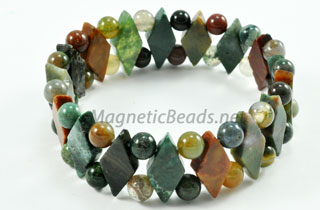 Semi-Precious Beads Fancy Jasper Stretch Bracelet (D-FJ)