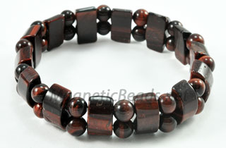 Semi-Precious Beads Red Tiger Eye Stretch Bracelet (HC-RTE)