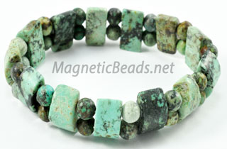 Semi-Precious African Turquoise Stretch Bracelet (HC-AT)