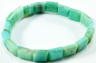 Semi-Precious-Beads Amanonite 2 Hole 10x10mm Spacers (SSA-10)