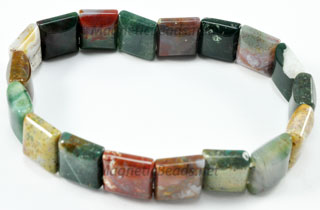 Semi-Precious Beads Fancy Jasper 2 Hole 10x10mm Spacers (SSA-10)