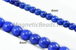 Semi-Precious Beads Blue Lapis Turquoise 4m or 6m (BLP)