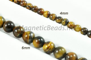 Semi-Precious Beads Brown Tiger Eye 4m or 6m (BTE)