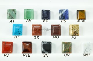 Semi Precious Beads Assorted 2 Hole 10x10mm Spacers (SSA-10)