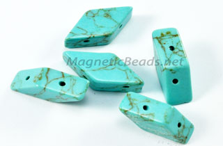 Semi-Precious Beads-Diamond Shape Turquoise (TQ)