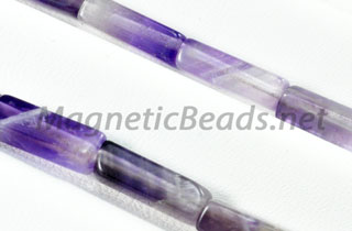 Semi-Precious Rectangle Beads 4x13m Cape Amethyst (RCT-CA)
