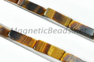 Semi-Precious Rectangle Beads 4x13mm Brown Tiger Eye (RCT-BTE)