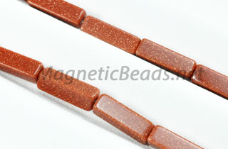 Semi-Precious Beads Rectangle 4x13mm Goldstone (RCT-GS)