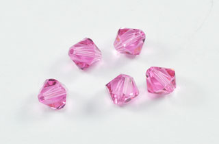Swarovski Bi-Cone Crystal Elements 6mm Rose (SWRose)