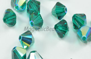 Swarovski Bi-Cone Crystals - Emerald Green 6mm (SWEMGRN-06)