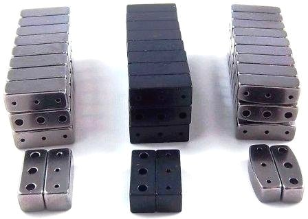 Magnetic Clasps Triple in Blk, Grey,Triple Curve 6x6x16mm (TMC)