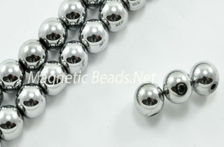 Triple Power Magnetic Bead 6m Silver Round (PM-202-S)