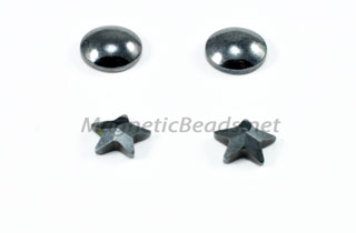 Triple Power magnetic Beads 8mm Faceted Star Earrings(EAR-STAR)