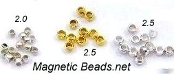(CRIMP) Bag of 1000 2.0 mm or 2.5 mm Crimp Beads
